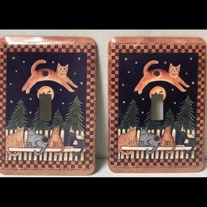 2 Cat Light Switch Covers